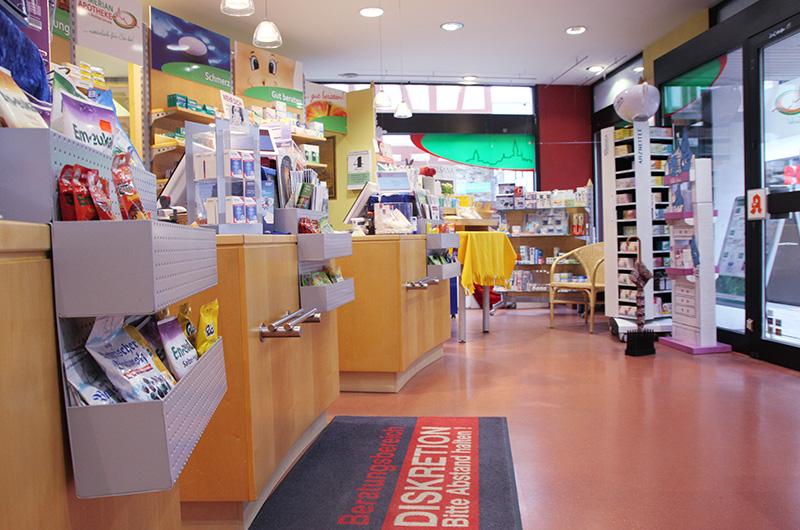 Eingangsbereich der Merian-Apotheke