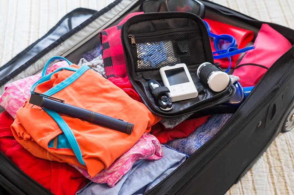 Diabetes-Urlaubskoffer